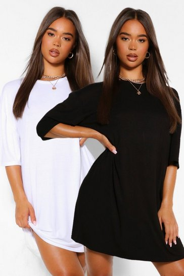Blackwhite black 2 Pack Oversized T-Shirt Dress