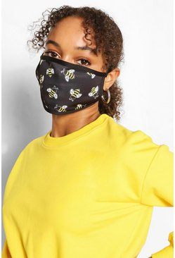 White Bee Fashion Face Mask