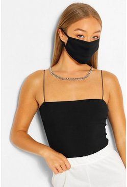 Black Fashion Face Mask 2 Pack