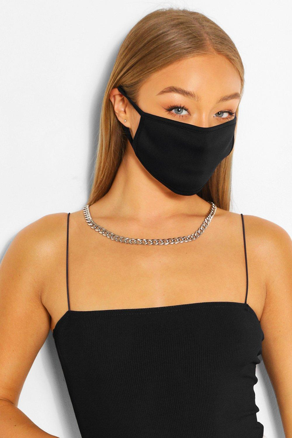 ACCESSORIES Black Fashion Face Mask 5 Pack