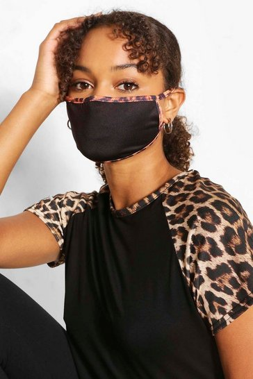 Black Leopard Fashion Face Mask