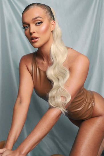 Blonde beige LullaBellz Wave Wraparound Pony Bleach