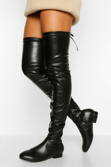 Black Wider Calf Over The Knee Boot