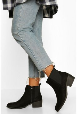Black Pointed Toe Chelsea Boot