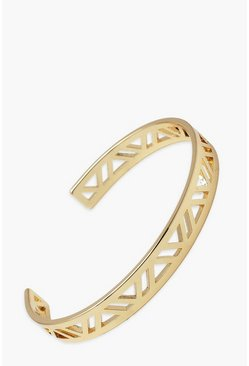 Gold Cut Out Detail Bangle