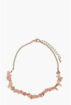 Pink Rose Quartz Choker