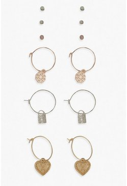 Multi Hoop & Stud 6 Pack Earrings