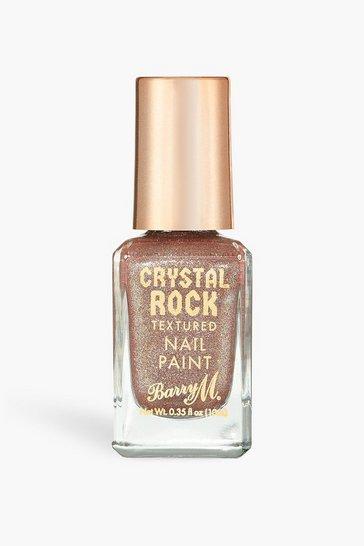 Gold metallic Barry M Crystal Rock Nail Paint Tiger Eye