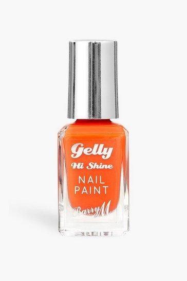 Orange Barry M Gelly Hi Shine Nail Paint Tangerine