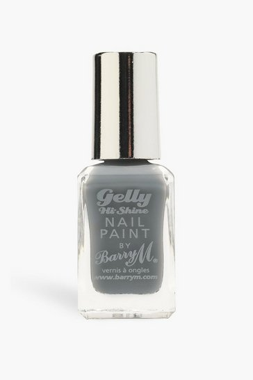 Grey Barry M Gelly Hi Shine Nail Paint Chai