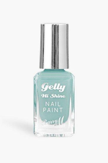 Mint green Barry M Gelly Hi Shine Nail Paint Berry Sorbet