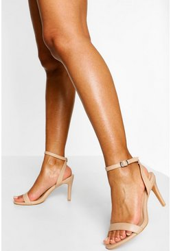Nude Wide Fit Basic Barely There Heels