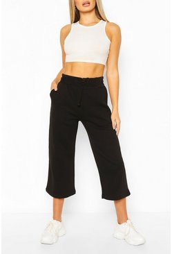 Black Cropped Jogger