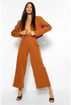 Brown The Woven Wide Leg Trouser