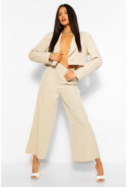 Power Shoulder Blazer & Pants Suit Set