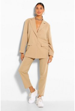 Pinstripe Dad Blazer & Pants Suit Set