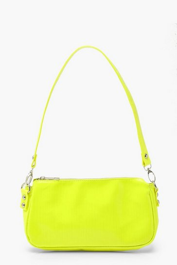 Lime Patent Shoulder Bag