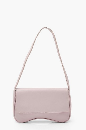 Lilac PU Foldover Under Arm Bag