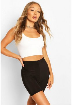 Black HIGH WAIST SLINKY CYCLING SHORT