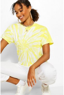 Lemon yellow TIE DYE OVERSIZED TSHIRT