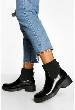 Black Sock Detail Chelsea Boot
