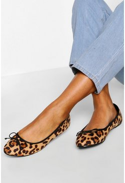 Leopard 2 Pack Basic Ballet Pumps