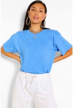 Azure blue BASIC OVERSIZED T-SHIRT