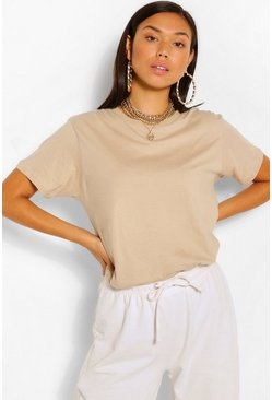 Sand BASIC OVERSIZED T-SHIRT