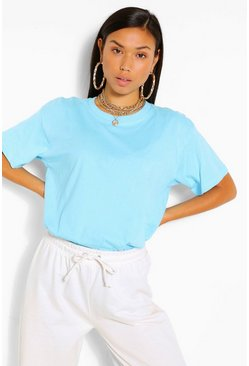 Turquoise BASIC OVERSIZED T-SHIRT