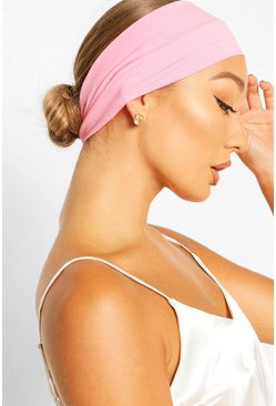 Pink Stretchy Make Up And Facial Headband