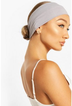 Grey Stretchy Make Up And Facial Headband