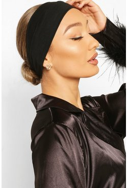 Black Stretchy Make Up And Facial Headband
