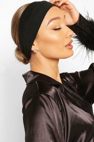 Black Stretchy Make Up And Facial Headband