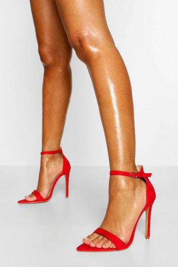 Red Pointed Toe Basic Two Parts