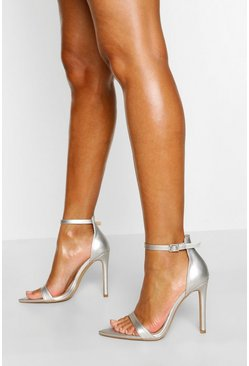 Silver Pointed Toe Basic Two Parts