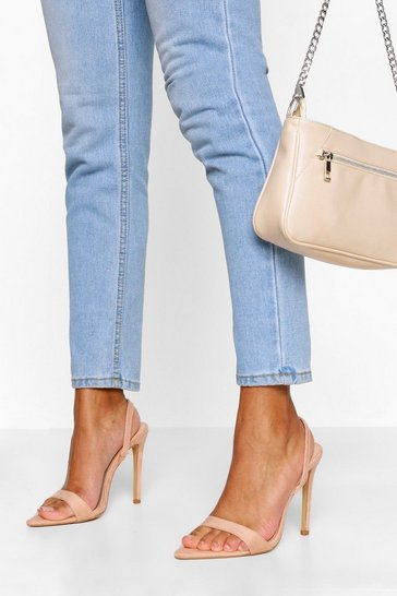 Nude Pointed Toe Slingback Two Parts