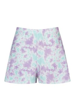 Lilac Pastel Tie Dye High Waist Flippy Shorts