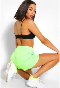 Chartreuse yellow Basic Loopback Sweat Runner Shorts
