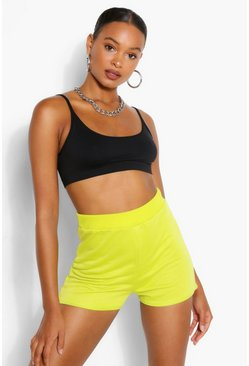 Neon-green neon Basic Loopback Runner Shorts