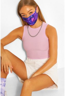 Galaxy Fashion Face Mask , Blue