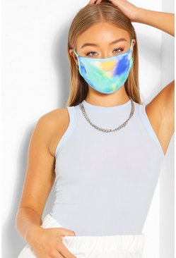 Green Tie Dye Fashion Face Mask