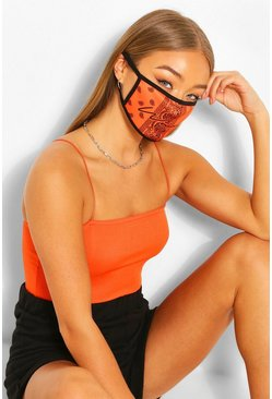 Fashion Gesichtsmaske, Orange