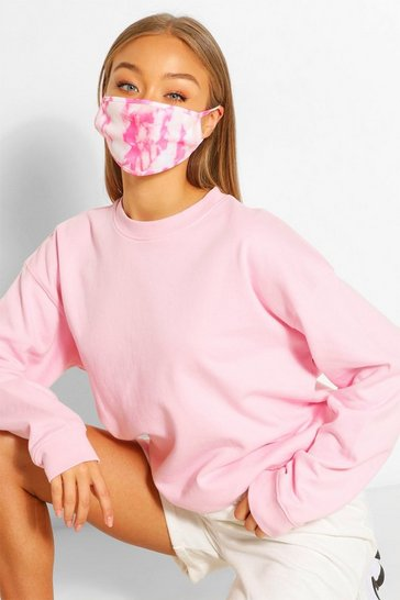 White Tie Dye Fashion Face Mask