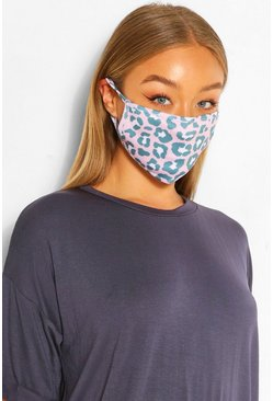 Pink Leopard Fashion Face Mask