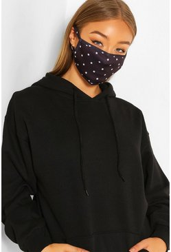 Black Mini Star Fashion Face Mask