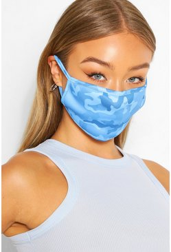 Camo Fashion Face Mask , Blue
