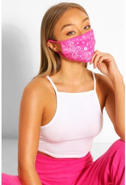 Paisley Fashion Face Mask , Pink
