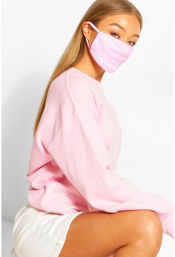 Pink Check Fashion Face Mask