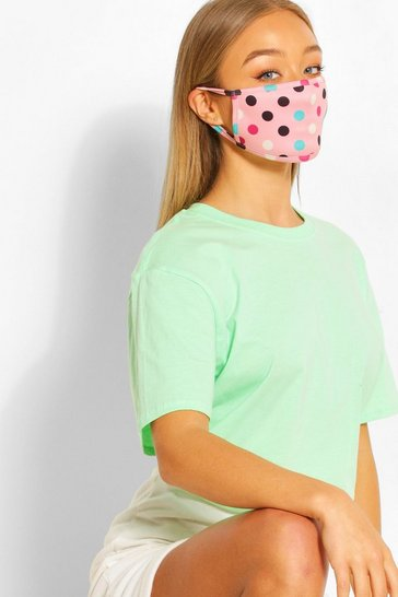 Pink Spot Fashion Face Mask