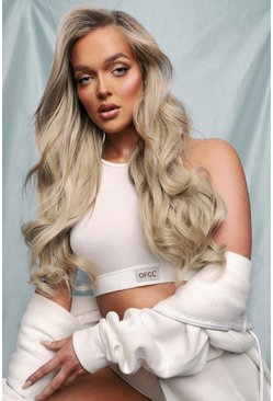 Blonde beige LullaBellz 5 Pc Curly Extensions Blondette